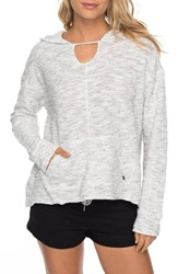 Roxy 'S Crazy Waves Keyhole Hoodie Marshmallow