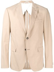 Hugo Boss Single Breasted Blazer Nude And Neutrals