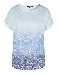 Olsen Abstract Print Ombre Tee Sailor Blue