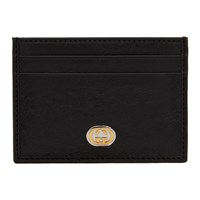 Gucci Black Interlocking G Card Holder