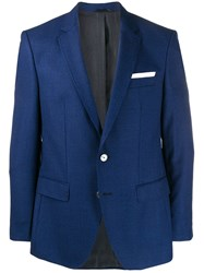 Hugo Boss Fitted Suit Jacket Blue