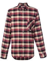 Public School Checked Shirt Cotton M Red