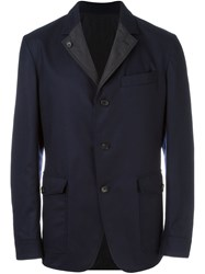 Salvatore Ferragamo Reversible Blazer Blue