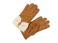 Ugg Classic Bow Shorty Chestnut Dress Gloves Brown