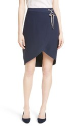 Ted Baker Women's London Yooy Crossover Front Skirt Navy
