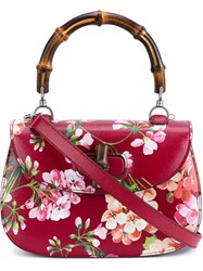 Gucci Floral Print Shoulder Bag Bamboo