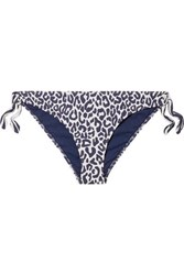 Stella Mccartney Leopard Print Bikini Briefs Navy