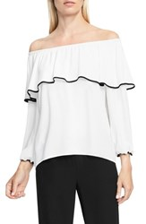 Vince Camuto Women's Ruffle Off The Shoulder Blouse New Ivory