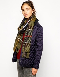 Barbour Chunky Twill Check Scarf Classictartan