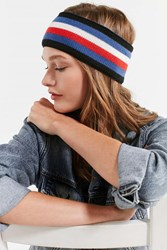 Urban Outfitters Soccer Striped Headband Blue Multi