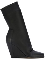 Rick Owens Wedge Booties Black