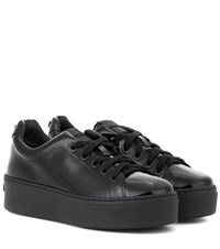 Kenzo Signature Patent Leather Sneakers Black
