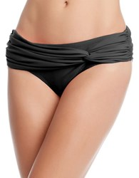 Karen Kane Fiji Twisted Hipster Bikini Bottom Black