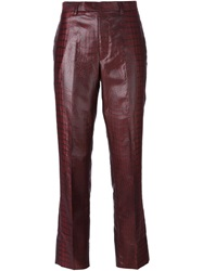 Jean Paul Gaultier Vintage Crocodile Print Trousers Red