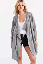 Silence And Noise Oversized Button Down Cocoon Cardigan Grey