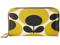 Orla Kiely Big Zip Wallet Mustard Wallet Handbags Yellow