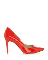 Karen Millen Patent Leather Pointed Toe Court Pumps Orange