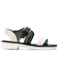 Studio Pollini Mesh Detail Sandals White
