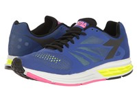 Diadora Kuruka Ultramarine Fluo Yellow Black Women's Shoes Blue