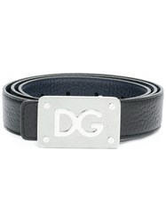 Dolce And Gabbana Branded Buckle Belt Black