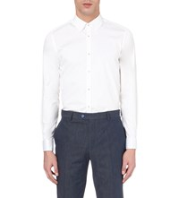 Ted Baker Timetoo Slim Fit Satin Shirt White