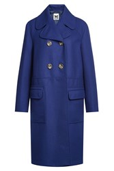 M Missoni Wool Coat With Cashmere Blue