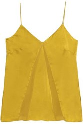 Charli Silk Crepe Top Gold