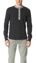 Todd Snyder Classic Chambray Henley Black