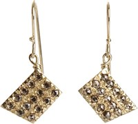 Fabrizio Riva Women's Brown Diamond Trapezoid Earrings Colorless