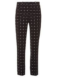 Givenchy Micro Geometric Print Tailored Trousers Black Multi