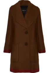 Derek Lam Wool And Mohair Blend Coat Chocolate