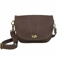 N'damus London Retro Brown Saddle Bag