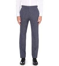 Reiss Tanaka Modern Fit Tapered Wool Blend Trousers Indigo