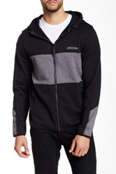 Athletic Recon Contender Hooded Zip Sweater Gray