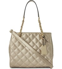 Aldo Clearbrook Faux Leather Handbag Champagne