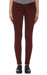 Rag And Bone Women's Suede Skinny Pants Colorless