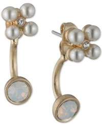 Lonna And Lilly Stone Imitation Pearl Jacket Earrings