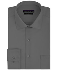 Geoffrey Beene Men's Classic Fit Non Iron Sateen Dress Shirt Charcoal