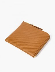 Comme Des Garcons Tan Luxury Leather Coin Wallet