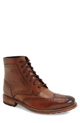 Ted Baker Men's London 'Sealls 3' Wingtip Boot Tan Leather