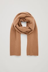 Cos Cashmere Scarf Beige