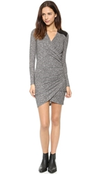 Autograph Addison Loy Vegan Leather Wrap Dress Heather Grey