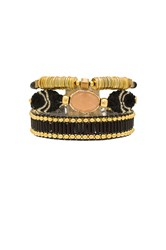 Hipanema Mini Lana Bracelet Metallic Gold