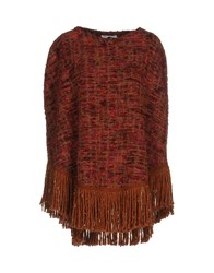 Angela Mele Milano Capes And Ponchos Maroon
