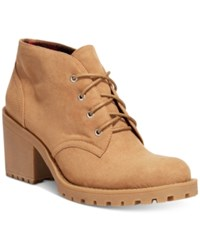 American Rag Reaghan Hiker Booties Only At Macy's Women's Shoes Tan