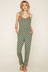 Forever 21 Elephant Print Cami Jumpsuit