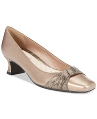 Easy Street Shoes Waive Pumps Women's Bronze