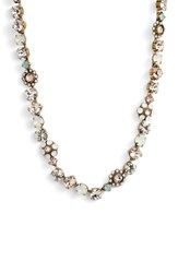 Sorrelli Classic Floral Crystal Necklace Clear White