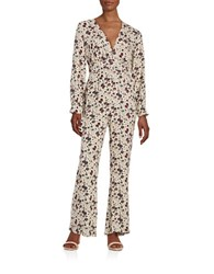 Free People Patterned Hot Jumpsuit White