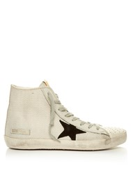 Golden Goose Francy High Top Cord Trainers White Black